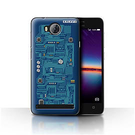 STUFF4 Case/Cover for Huawei Y3II/Y3 2 / Blue Design / Circuit Board Collection Mobile phones