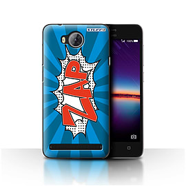 STUFF4 Case/Cover for Huawei Y3II/Y3 2 / Zap Design / Comics/Cartoon Words Collection Mobile phones