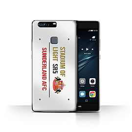 Official Sunderland AFC Case/Cover for Huawei P9 Plus/White/Gold Design/SAFC Stadium of Light Sign Mobile phones