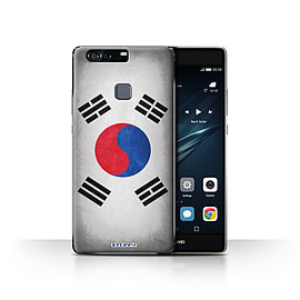STUFF4 Case/Cover for Huawei P9 Plus / Korea/Korean Design / Flags Collection Mobile phones