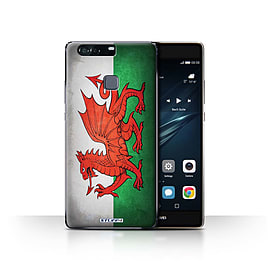 STUFF4 Case/Cover for Huawei P9 Plus / Wales/Welsh Design / Flags Collection Mobile phones