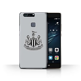 Official Newcastle United FC Case/Cover for Huawei P9 Plus/Mono/Grey Design/NUFC Football Crest Mobile phones