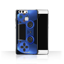 STUFF4 Case/Cover for Huawei P9 / Blue Design / Playstation PS4 Collection Mobile phones