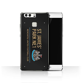 Official Newcastle United FC Case/Cover for Huawei P9/Black/Gold Design/St James Park Sign Mobile phones