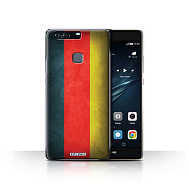 STUFF4 Case/Cover for Huawei P9 Plus / Germany/German Design / Flags Collection Mobile phones