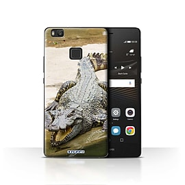 STUFF4 Case/Cover for Huawei P9 Lite / Crocodile Design / Wildlife Animals Collection Mobile phones