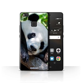STUFF4 Case/Cover for Huawei P9 Lite / Panda Bear Design / Wildlife Animals Collection Mobile phones