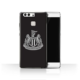 Official Newcastle United FC Case/Cover for Huawei P9/Mono/Black Design/NUFC Football Crest Mobile phones