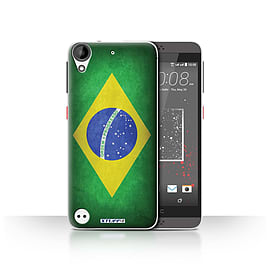 STUFF4 Case/Cover for HTC Desire 530 / Brazil/Brazilian Design / Flags Collection Mobile phones
