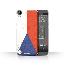 STUFF4 Case/Cover for HTC Desire 530 / Czech Republic Design / Flags Collection Mobile phones