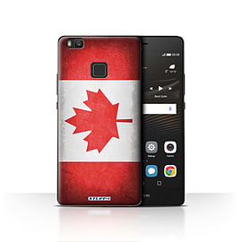 STUFF4 Case/Cover for Huawei P9 Lite / Canada/Canadian Design / Flags Collection Mobile phones