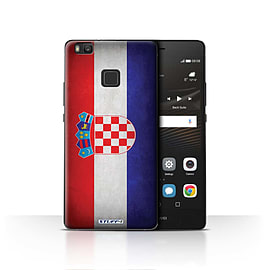 STUFF4 Case/Cover for Huawei P9 Lite / Croatia/Croatian Design / Flags Collection Mobile phones