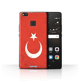 STUFF4 Case/Cover for Huawei P9 Lite / Turkey/Turkish Design / Flags Collection Mobile phones