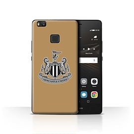Official Newcastle United FC Case/Cover for Huawei P9 Lite/Mono/Gold Design/NUFC Football Crest Mobile phones