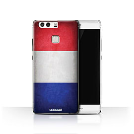 STUFF4 Case/Cover for Huawei P9 / France/French Design / Flags Collection Mobile phones