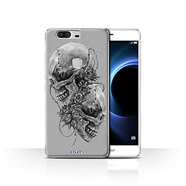 STUFF4 Case/Cover for Huawei Honor V8 / Roses Design / Skull Art Sketch Collection Mobile phones