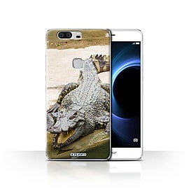 STUFF4 Case/Cover for Huawei Honor V8 / Crocodile Design / Wildlife Animals Collection Mobile phones