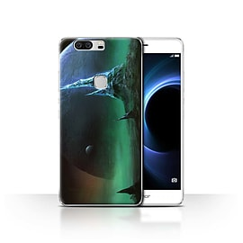 Official Chris Cold Case/Cover for Huawei Honor V8/Sapphire Peaks Design/Alien World Cosmos Mobile phones
