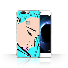 STUFF4 Case/Cover for Huawei Honor V8 / Blue Hair Design / Comic Illustrated Girls Collection Mobile phones