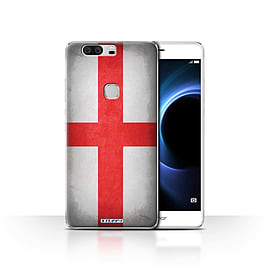 STUFF4 Case/Cover for Huawei Honor V8 / England/English Design / Flags Collection Mobile phones
