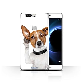 STUFF4 Case/Cover for Huawei Honor V8 / Listening Dog Design / Funny Animals Collection Mobile phones