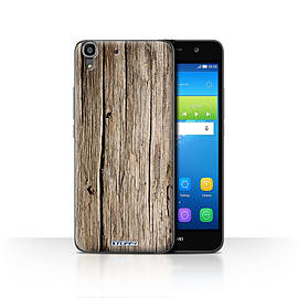 STUFF4 Case/Cover for Huawei Y6 / Driftwood Design / Wood Grain Effect/Pattern Collection Mobile phones