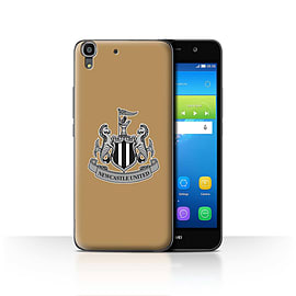 Official Newcastle United FC Case/Cover for Huawei Y6/Mono/Gold Design/NUFC Football Crest Mobile phones