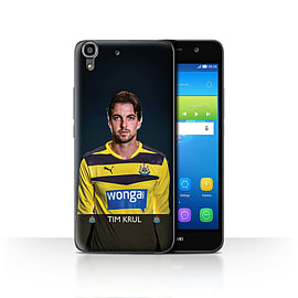 Official Newcastle United FC Case/Cover for Huawei Y6/Krul Design/NUFC Football Player 15/16 Mobile phones