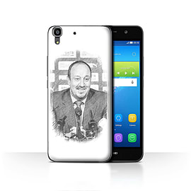 Official Newcastle United FC Case/Cover for Huawei Y6 / Sketch Design / NUFC Rafa Ben?tez Collection Mobile phones
