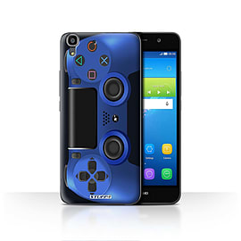STUFF4 Case/Cover for Huawei Y6 / Blue Design / Playstation PS4 Collection Mobile phones