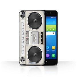 STUFF4 Case/Cover for Huawei Y6 / Boombox Design / Retro Tech Collection Mobile phones