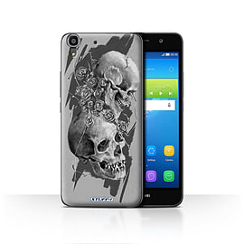 STUFF4 Case/Cover for Huawei Y6 / Thorns Design / Skull Art Sketch Collection Mobile phones