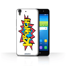 STUFF4 Case/Cover for Huawei Y6 / Krunch Design / Comics/Cartoon Words Collection Mobile phones