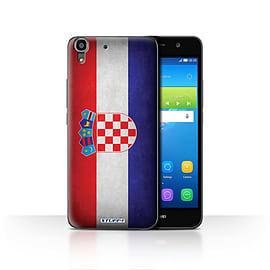 STUFF4 Case/Cover for Huawei Y6 / Croatia/Croatian Design / Flags Collection Mobile phones