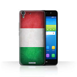 STUFF4 Case/Cover for Huawei Y6 / Italy/Italian Design / Flags Collection Mobile phones