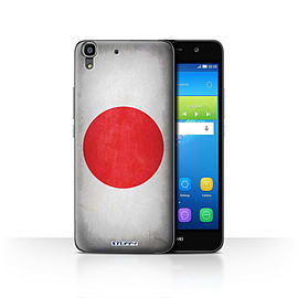 STUFF4 Case/Cover for Huawei Y6 / Japan/Japanese Design / Flags Collection Mobile phones