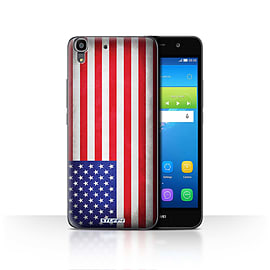 STUFF4 Case/Cover for Huawei Y6 / America/American/USA Design / Flags Collection Mobile phones
