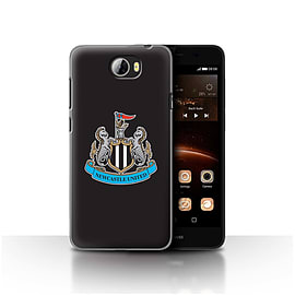 Official Newcastle United FC Case/Cover for Huawei Y5II/Y5 2/Colour/Black Design/NUFC Football Crest Mobile phones