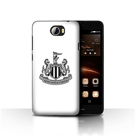 Official Newcastle United FC Case/Cover for Huawei Y5II/Y5 2/Mono/White Design/NUFC Football Crest Mobile phones