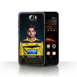 Official Newcastle United FC Case/Cover for Huawei Y5II/Y5 2/Krul Design/NUFC Football Player 15/16 Mobile phones