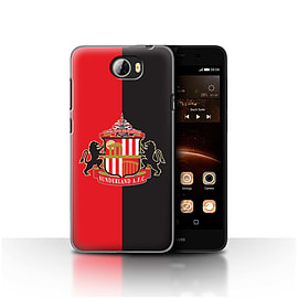 Official Sunderland AFC Case/Cover for Huawei Y5II/Y5 2/Red/Black Design/SAFC Football Club Crest Mobile phones