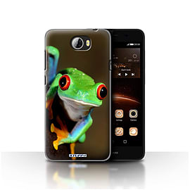 STUFF4 Case/Cover for Huawei Y5II/Y5 2 / Frog Design / Wildlife Animals Collection Mobile phones