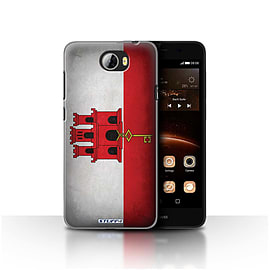 STUFF4 Case/Cover for Huawei Y5II/Y5 2 / Gibraltar/Gibraltarian Design / Flags Collection Mobile phones