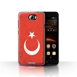 STUFF4 Case/Cover for Huawei Y5II/Y5 2 / Turkey/Turkish Design / Flags Collection Mobile phones