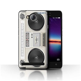 STUFF4 Case/Cover for Huawei Y3II/Y3 2 / Boombox Design / Retro Tech Collection Mobile phones