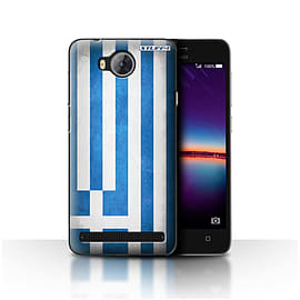 STUFF4 Case/Cover for Huawei Y3II/Y3 2 / Greece/Greek Design / Flags Collection Mobile phones