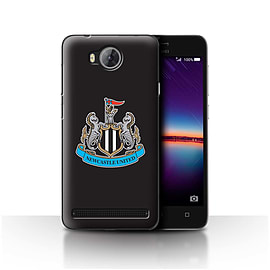 Official Newcastle United FC Case/Cover for Huawei Y3II/Y3 2/Colour/Black Design/NUFC Football Crest Mobile phones