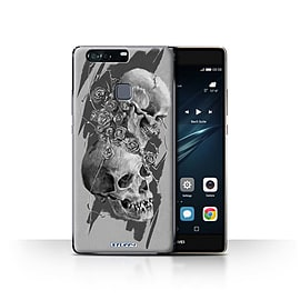 STUFF4 Case/Cover for Huawei P9 Plus / Thorns Design / Skull Art Sketch Collection Mobile phones