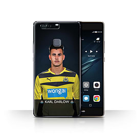 Official Newcastle United FC Case/Cover for Huawei P9 Plus/Darlow Design/NUFC Football Player 15/16 Mobile phones