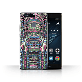 STUFF4 Case/Cover for Huawei P9 Plus / Elephant-Colour Design / Aztec Animal Design Collection Mobile phones